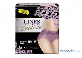 Mutanda Assorbente per Donna Lines Boutique, color malva M